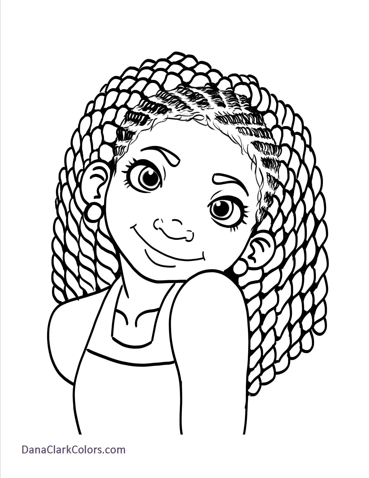 Free Coloring Page 1 Drawings of black girls, Coloring