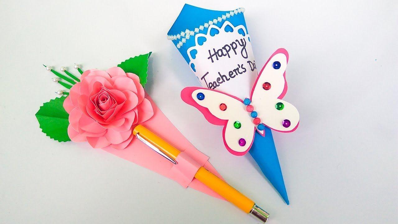 Diy Teacher S Day Gift Card How To Make Teacher S Day Card Teachers Day Gifts Teachers Day Card Teachers Diy