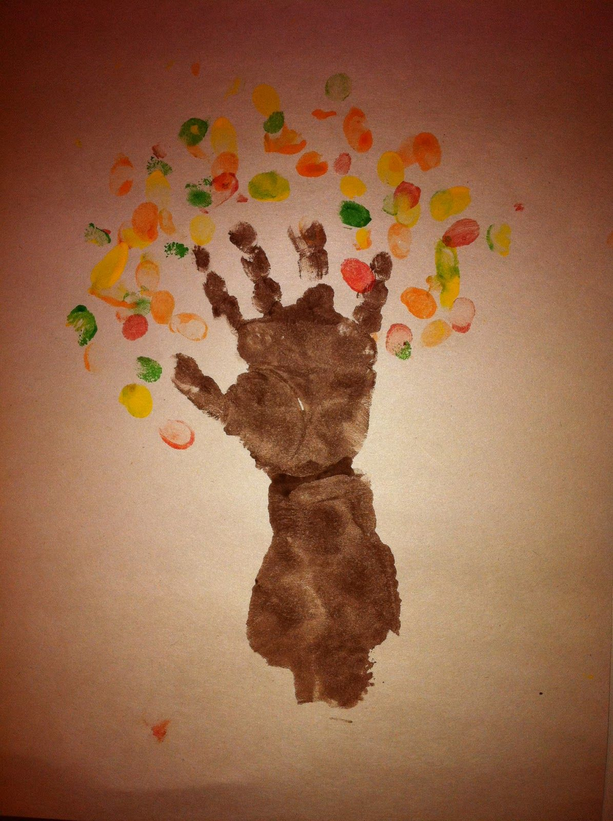 Crafts for one year olds - Birthday Crafts For One Year Olds Autumn Tree The One Pictured Here