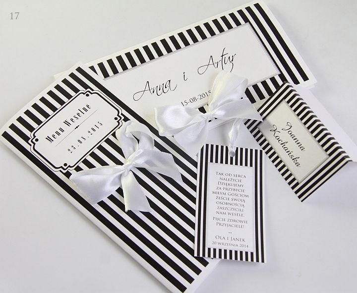 Zaproszenia Na Slub Slubne W Paski Promocja 5163029896 Oficjalne Archiwum Allegro Gifts Gift Wrapping Convenience Store Products