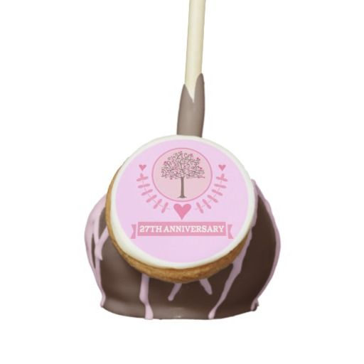 27th Anniversary Party Favor Cake Pops | Cake Pops | Pinterest
