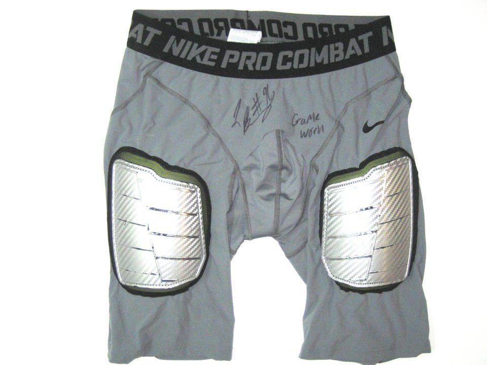 565f989ee41 Jay Bromley New York Giants Game Worn   Signed Nike Pro Combat Compression  XXL Shorts