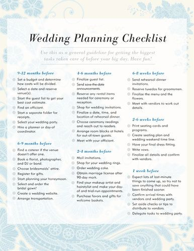free printable checklists to stay organized my wedding plans