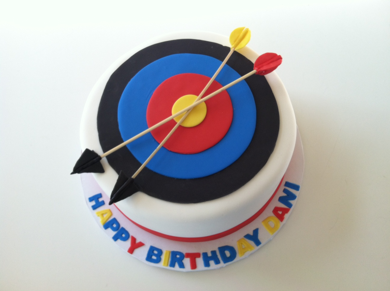 Pleasing Archery Target Cake With Images Archery Birthday Target Funny Birthday Cards Online Aboleapandamsfinfo