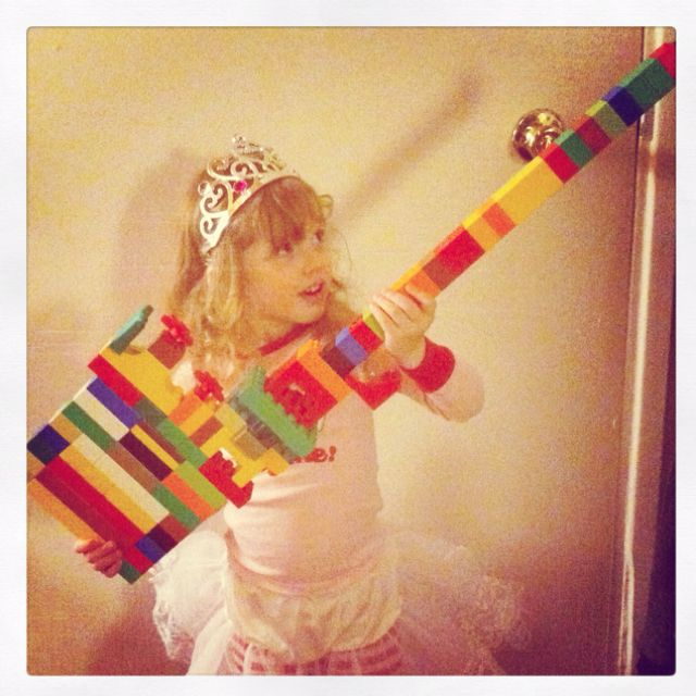 My Daughter Made This Duplo Guitar She Rocks Duplo Lego Duplo To My Daughter