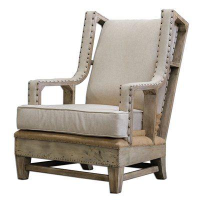 Uttermost 23615 Schafer Linen Upholstered Chair
