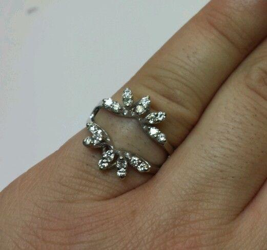 BEAUTIFUL .50CT DIAMOND RING GUARD ENHANCER