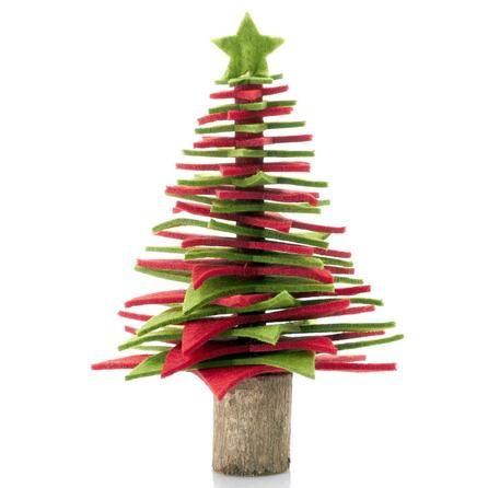 Felt Tree 22cm Red Dunelm Christmas Gift Decorations Diy Felt Christmas Tree Christmas