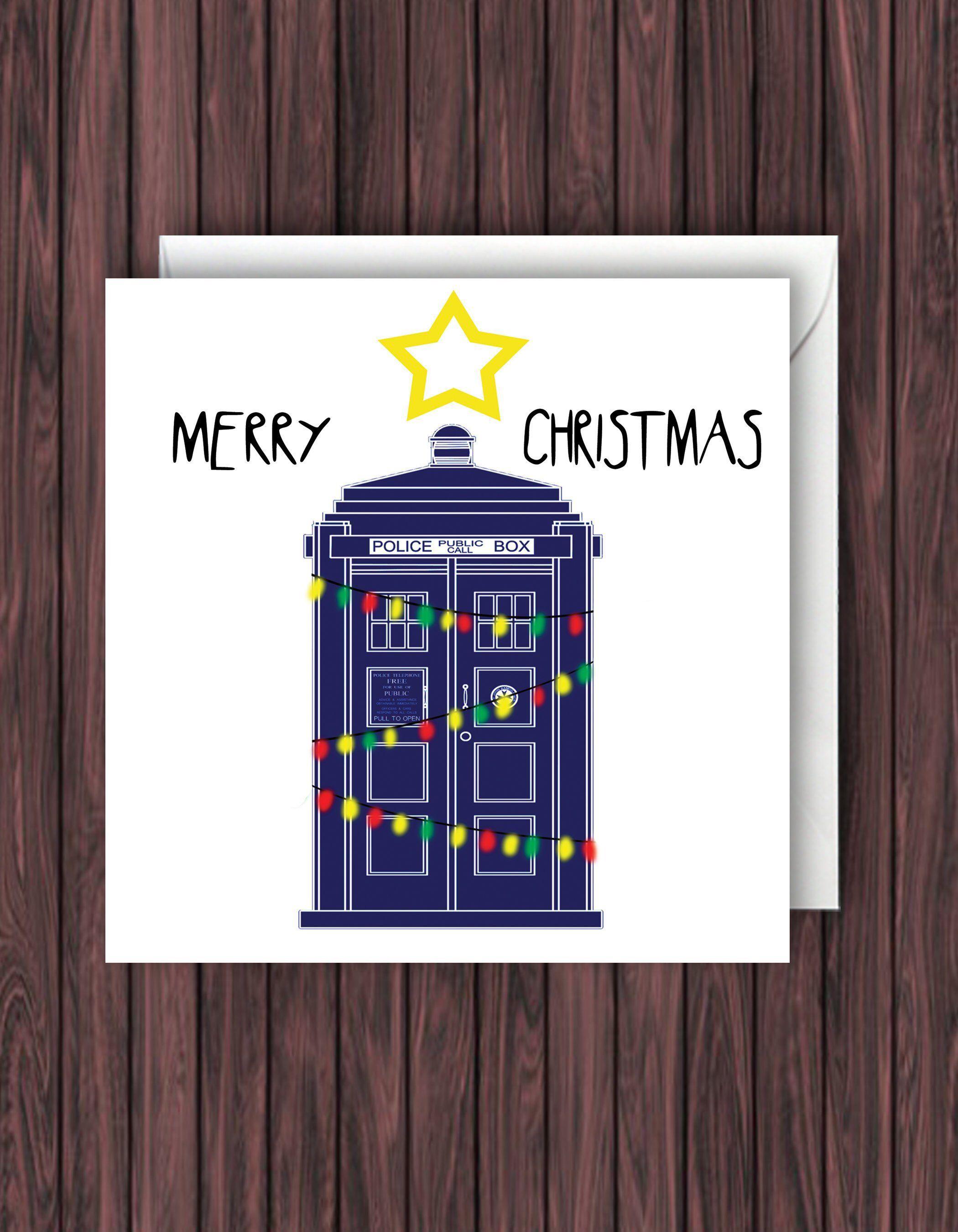 Doctor Who Christmas Cards.Tardis Christmas Card Doctor Who Christmas Card Funny Christmas