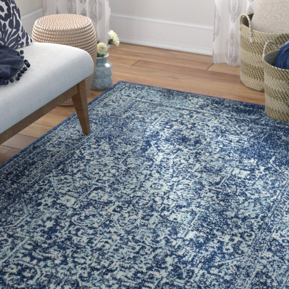 Elson Oriental Navy Area Rug With Images Light Grey Area Rug