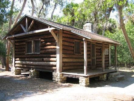 Logs Cabins At Myakka State Park Are Among Many Available In Florida State  Parks.