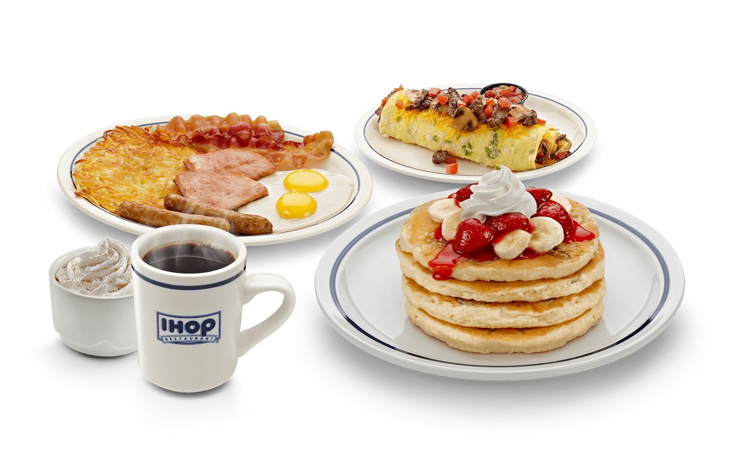 IHOP® is the home of all things breakfast and everything delicious. Pancakes, crepes, waffles, eggs and more – order online all right here.