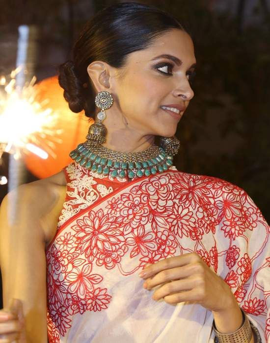 Image result for images of indian actress with oxidized jewellery