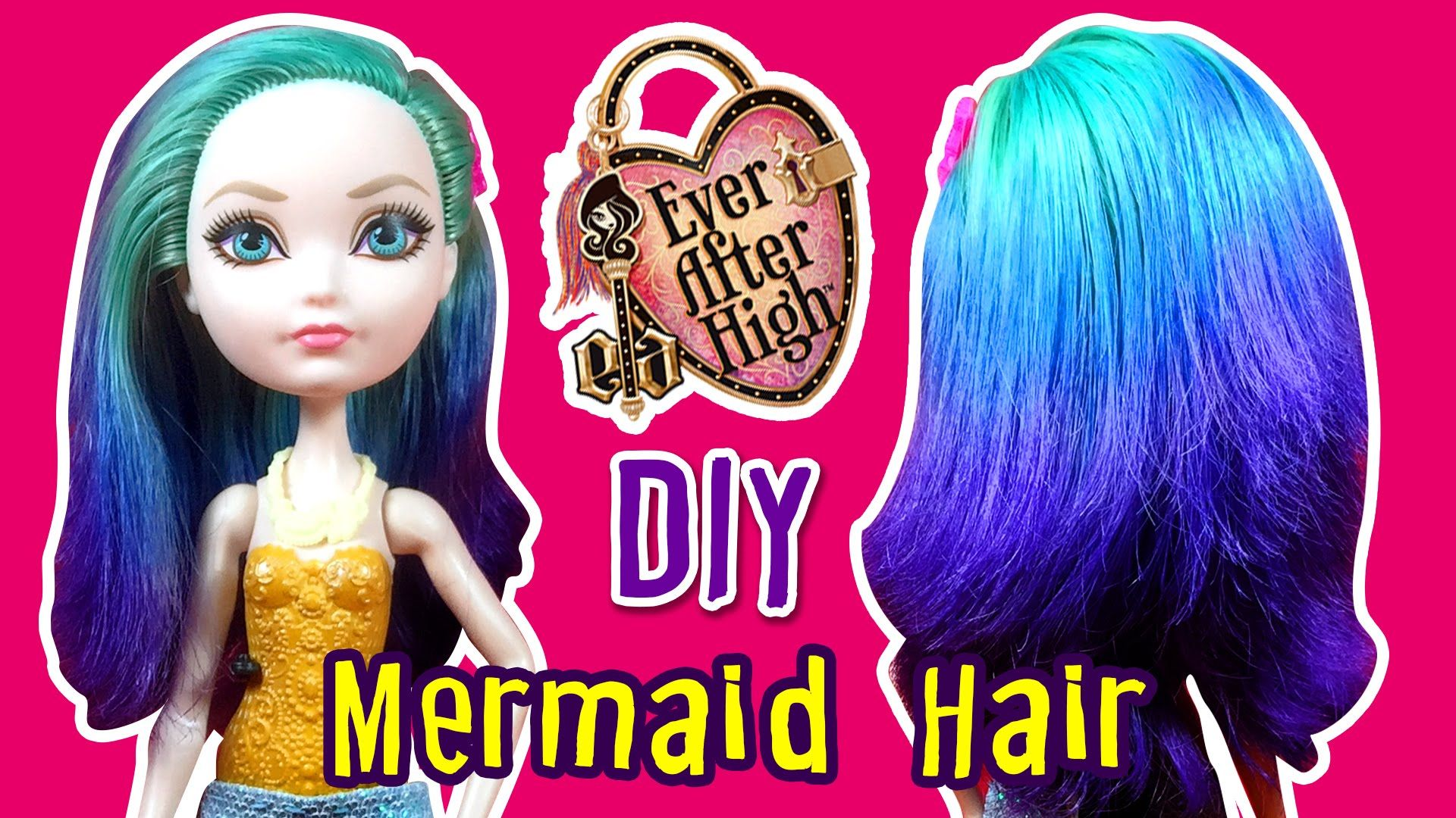 how to make mermaid hair for apple white doll - ever after