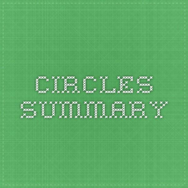 Circles summary