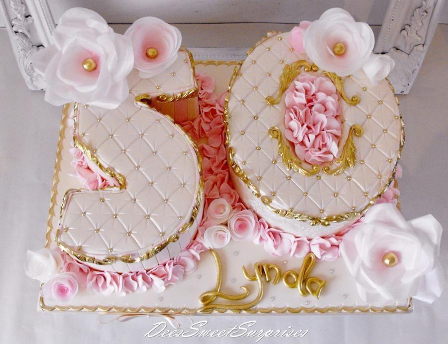 Ladies 50th Birthday Cake 50th Birthday Cake Number Birthday Cakes Cake