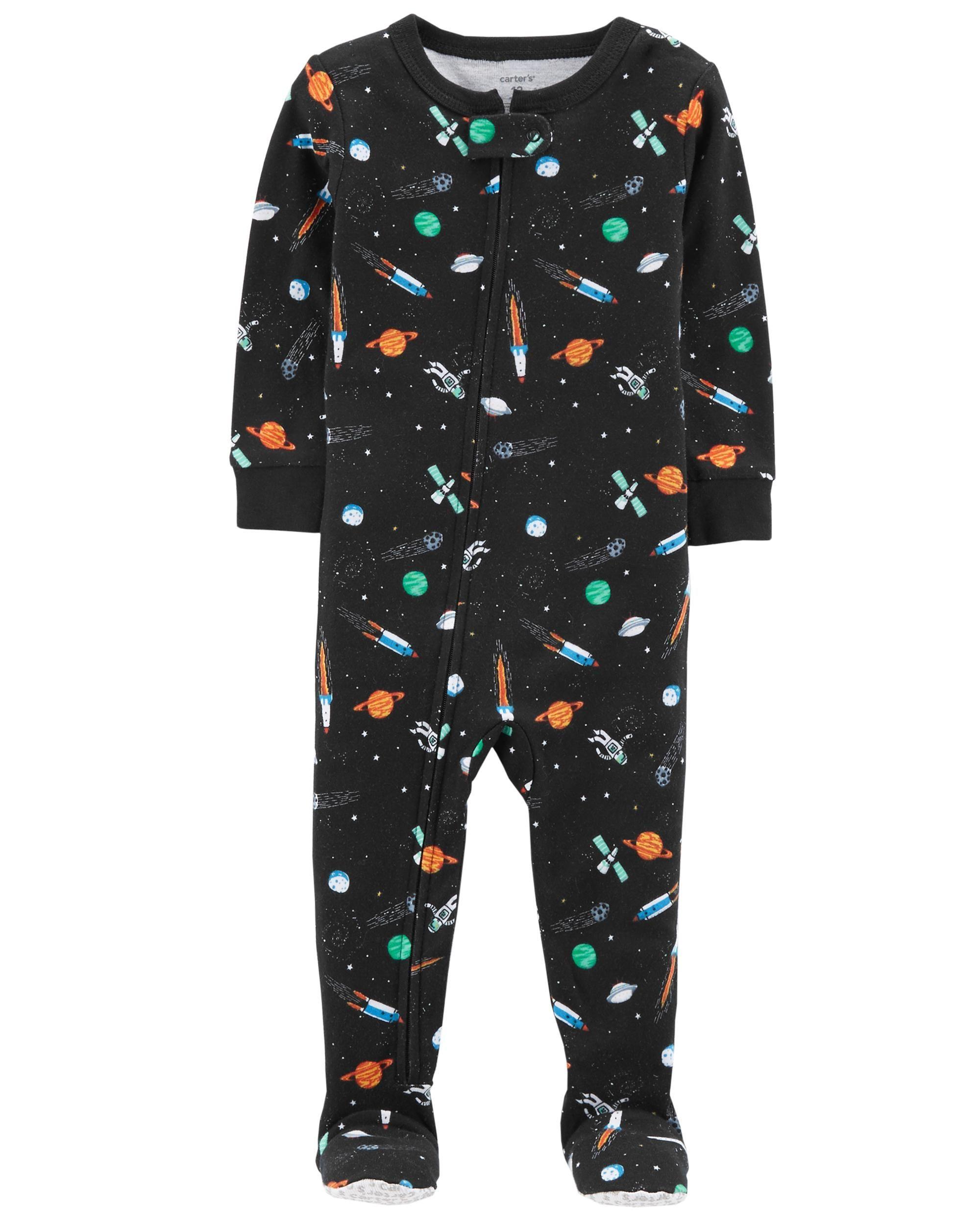 52591916bf7b 1-Piece Space Snug Fit Cotton PJs