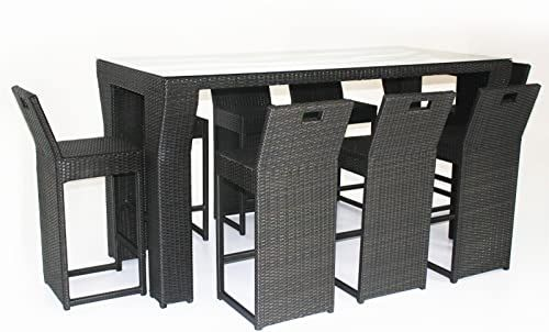 Amazing offer on husen Outdoor Patio Wicker Furniture New Resin 9-Piece Dining Bar Set online - Totoppremium