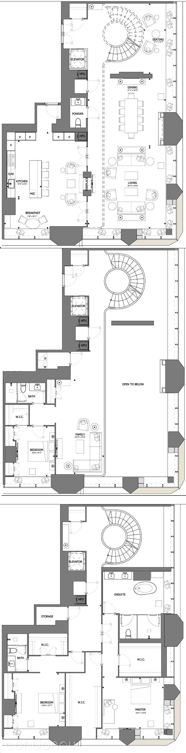 Penthouse Floor Plans Unique The E Condos By Mizrahi Penthouse Suites 03 Floorplan 3 Bed At Home Interior Hotel Floor Plan Modern Floor Plans Home Design Plans