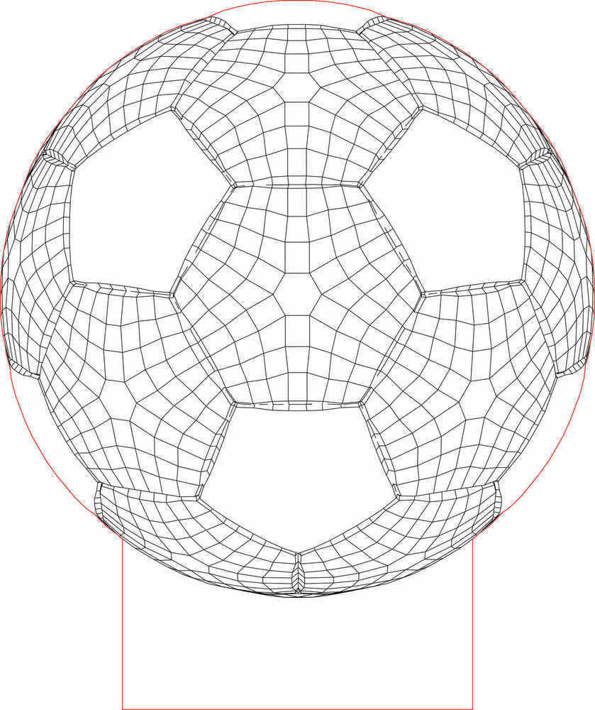 Lampe Ball Ball 3d Illusion Led Lamp Vector File 3d Geometric Designs And