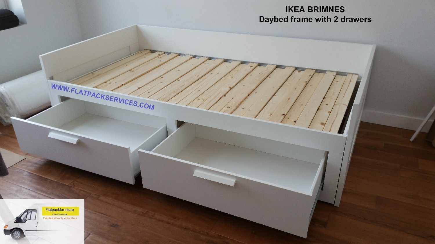 IKEA BRIMNES Daybed frame with 2 drawers, Article Number