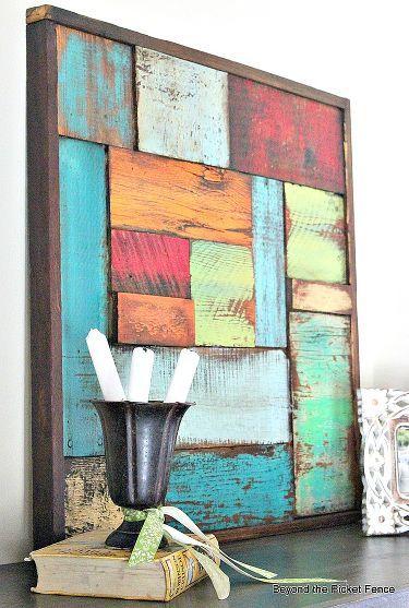 Scrap Wood Art #palletbedroomfurniture