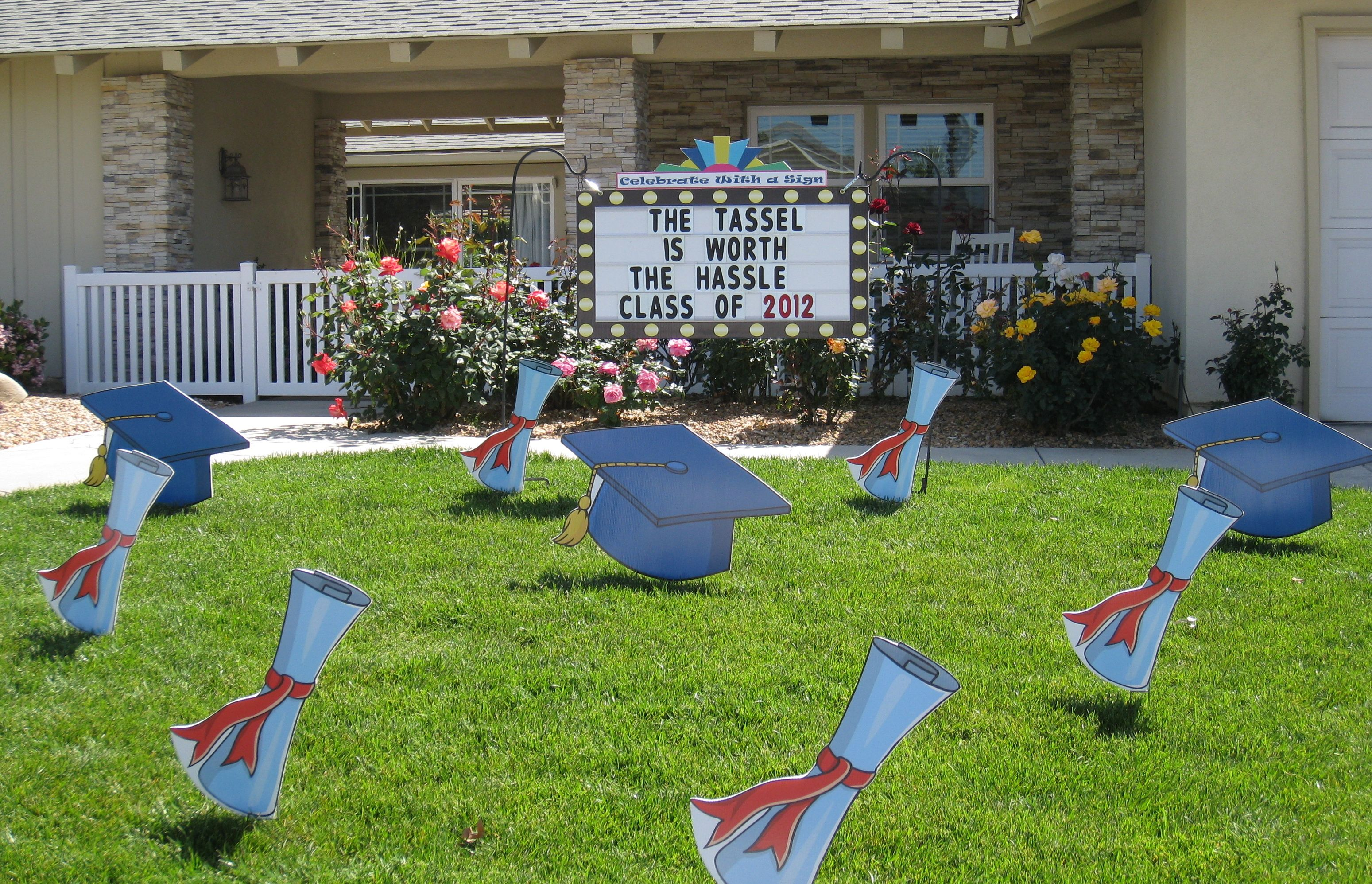 Graduation lawn stakes outdoor graduation party