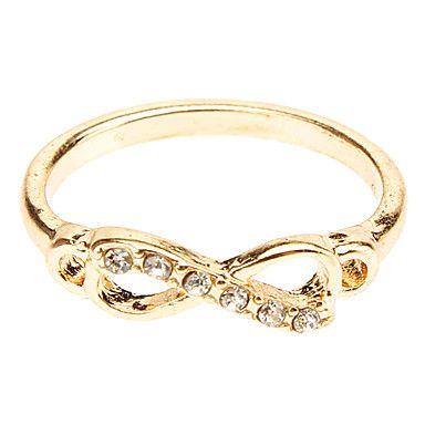 db00a5d00ca €0.99  Mulheres Anel de banda Dourado Prata Imitações de Diamante ...