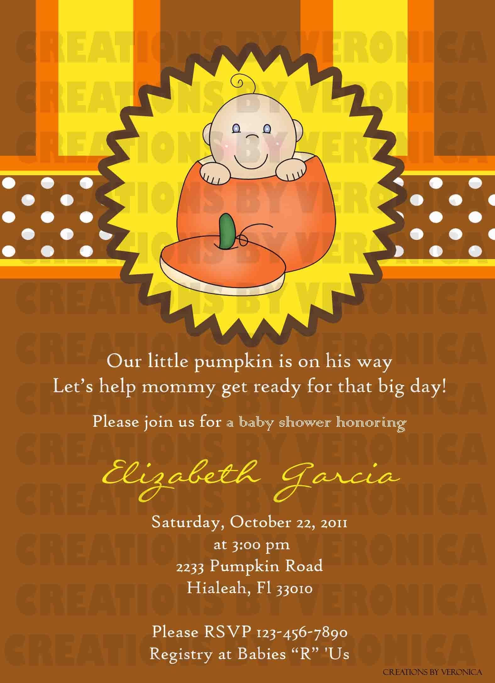 Thanksgiving fall baby shower invitation creations by veronica thanksgiving fall baby shower invitation filmwisefo