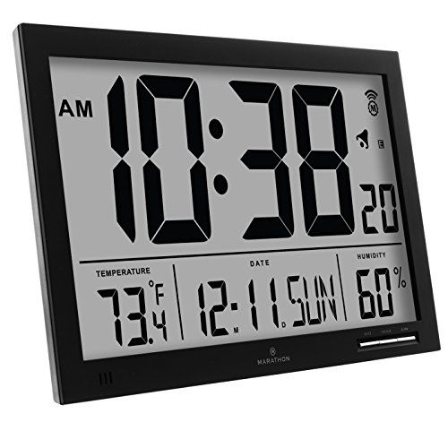 Wall Clocks Decor Marathon Cl030062bk Slimjumbo Atomic Digital Wall Clock Black Check Out The Image By Visiting The L Atomic Wall Clock Clock Digital Wall