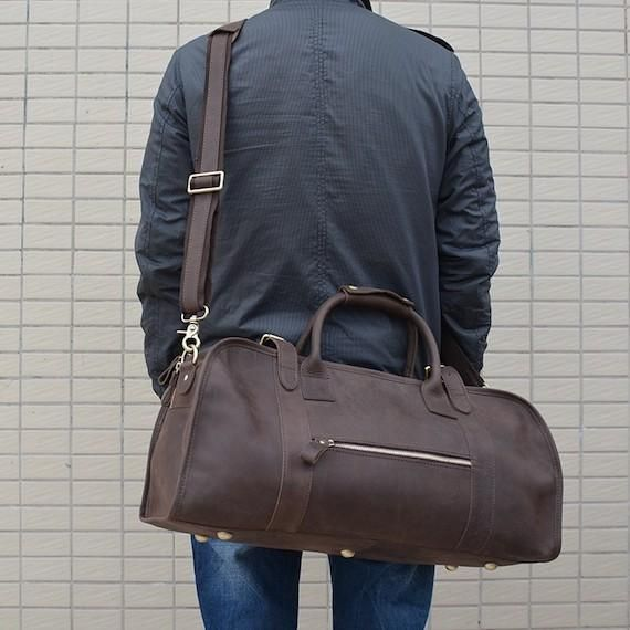 Head for your weekend trips like a pro with this Genuine Leather Travel Duffle  Bag. 56bcf1d67294e
