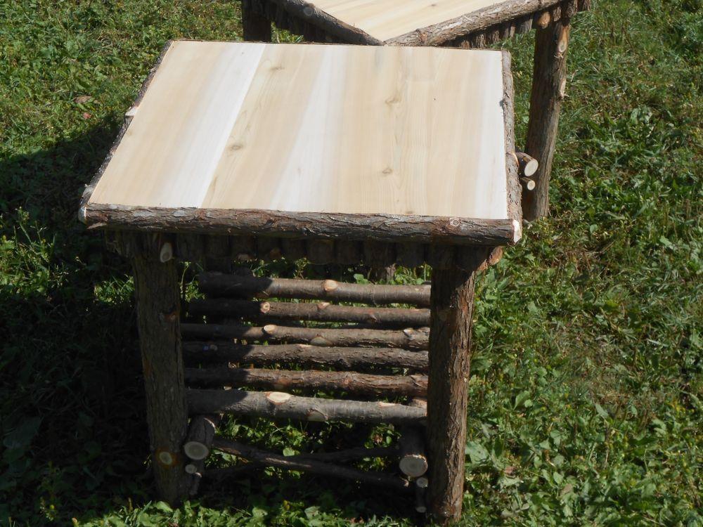 One Twig Furniture End Table ,Rustic Cedar Log Stand 20 x 20 x 20 | eBay