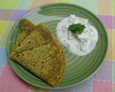 Sizzling Indian Recipes.....: Chayote Raita with MultiGrain Methi paratha / Roti.