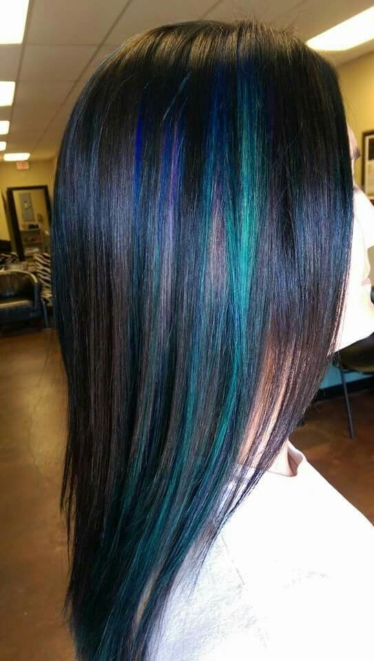 highlights using rusk purple blue and teal ooh