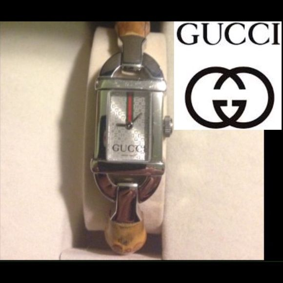 5964047f6a3 Authentic Vintage Gucci 6800 Series Watch Authentic GUCCI 6800 SERIES  LADIES BAMBOO SWISS QUARTZ WATCH