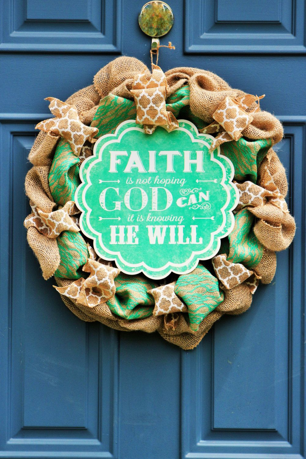 Christian faith wreath christian faith gift scriptural wall art