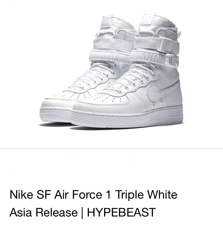 Nike SF Air Force 1 High Triple White | Nike, Air force 1