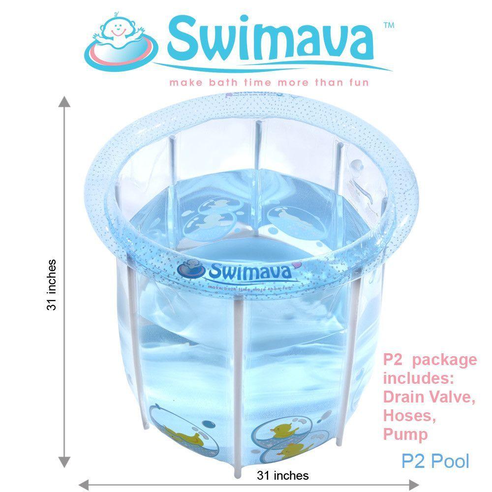 P2 Baby Spa Pool & Floaties Set - Large Tub (86 Gallons)   Baby tub ...