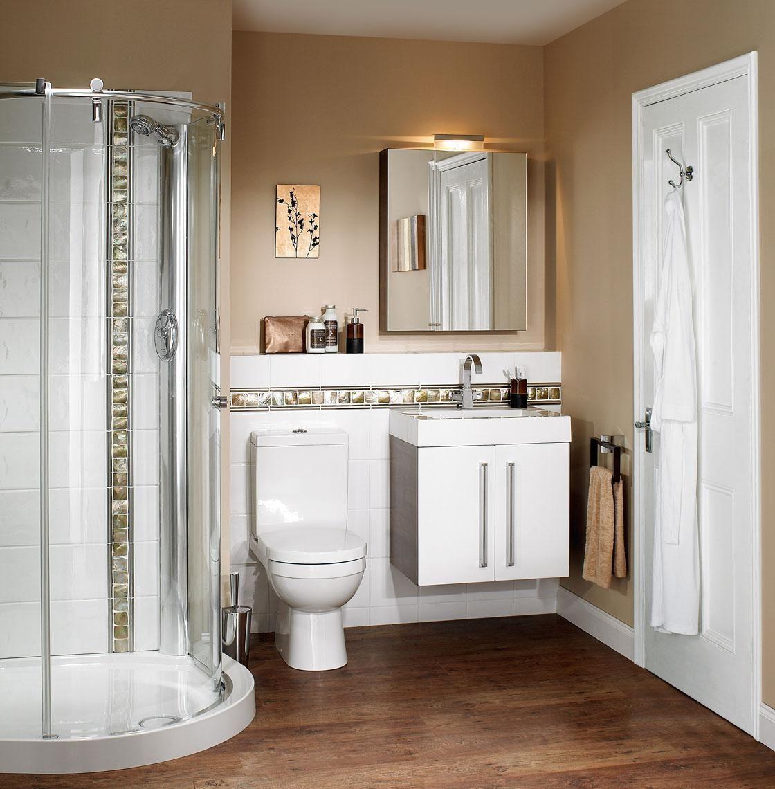 Materiales-ideales-para-baños-pequeños. | baños | Pinterest | Baño ...