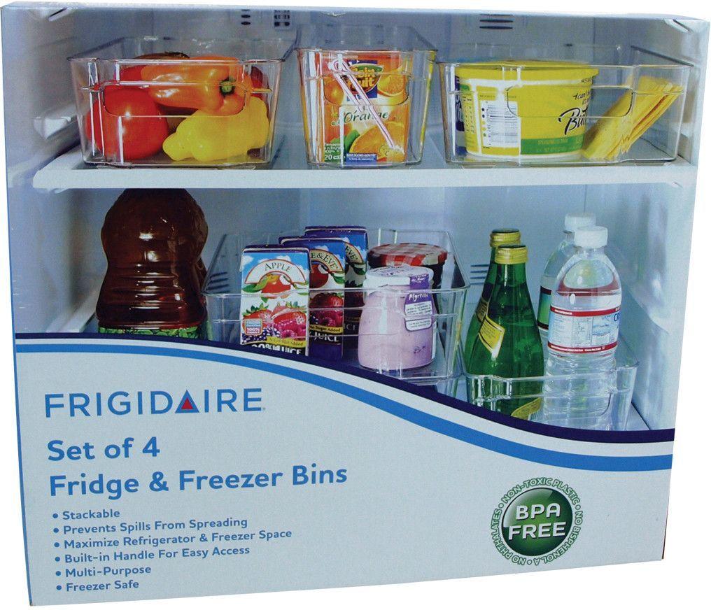 frigidaire fridge and freezer bin set Case of 4