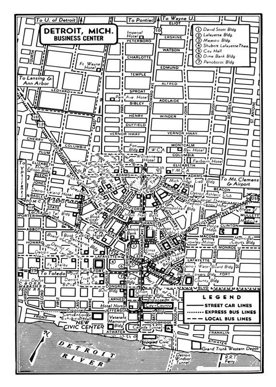20x30 Wyandotte Michigan 1896 Historic Panoramic Town Map