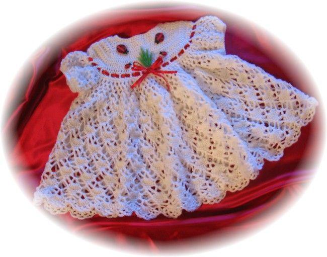 010 BLUEBELLS BABY DRESS CROCHET PATTERN by REBECCA