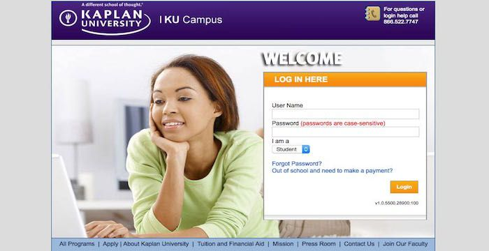 kaplan university login websites pinterest