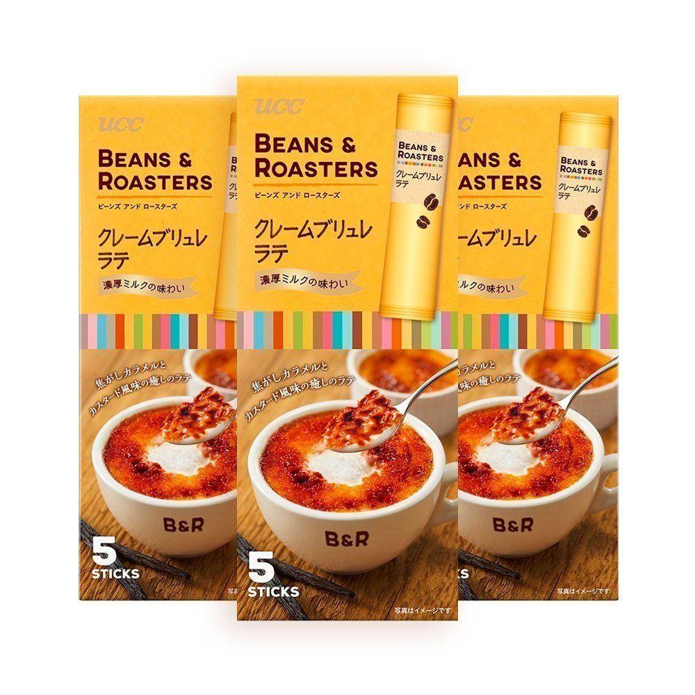 UCC Beans & Roasters Creme Brulee Latte Coffee 3 X 5