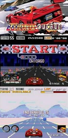 Turbo Outrun Sega Mega Drive Genesis Screenshots Video Games 2