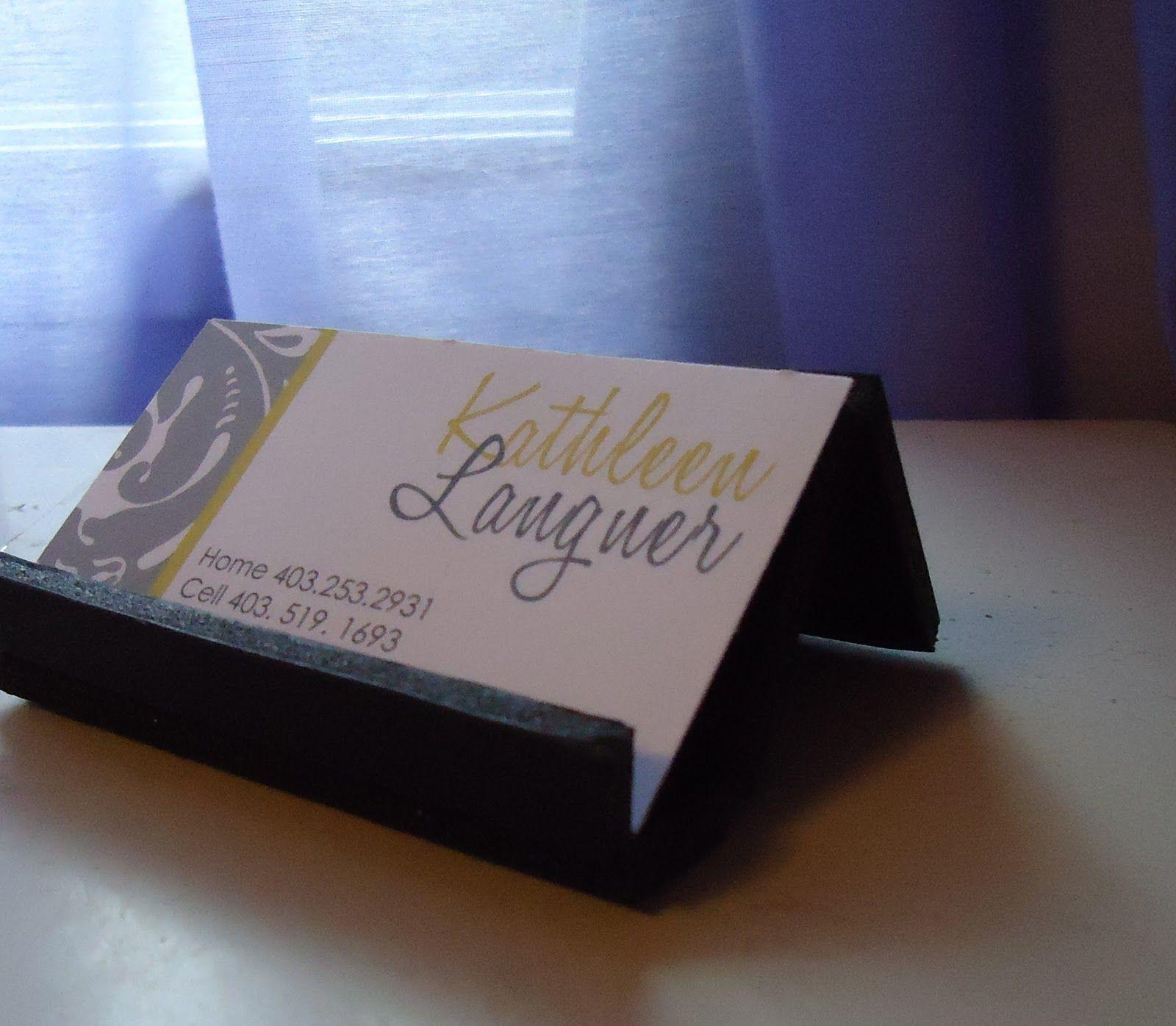 Diy Cardboard Business Card Stand Sweet Simple Diy Business Card Holder Diy Diy Business Cards Card Holder Diy Business Card Stand