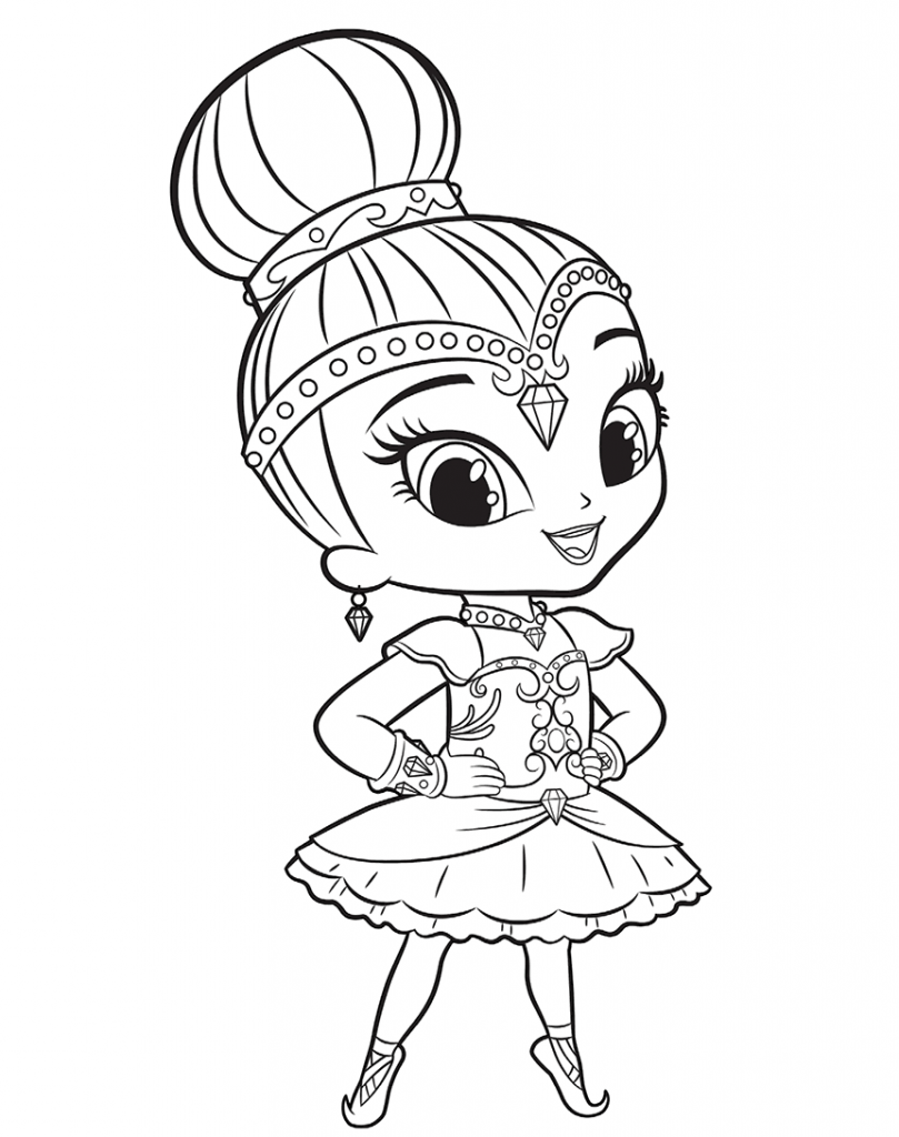 Shimmer And Shine Coloring Pages Ballerina Coloring Pages