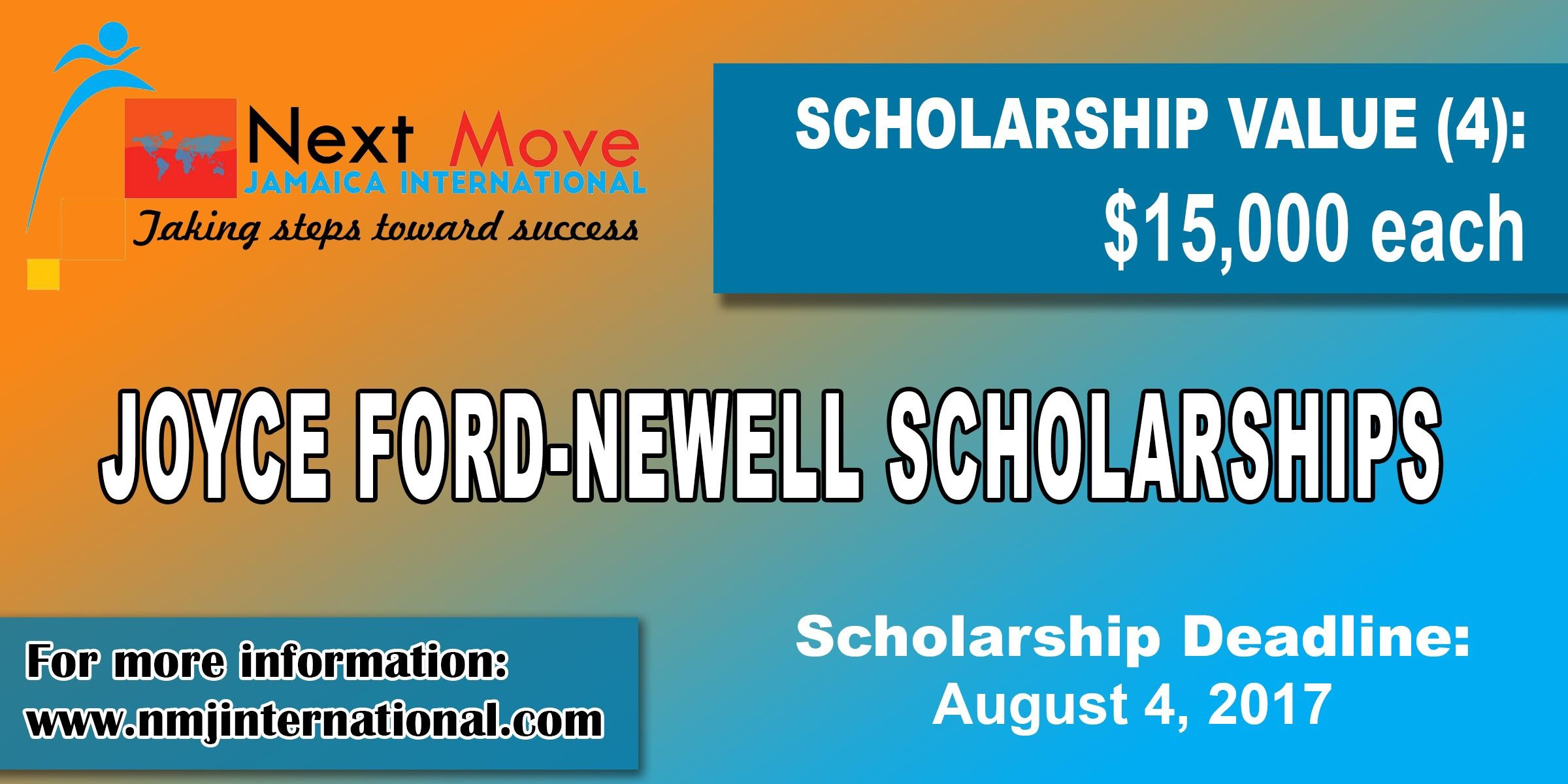 Joyce Ford Newell Scholarships from NMJ International. The