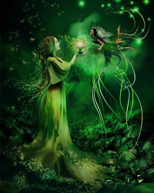 Картинки волшебных лесов и фей