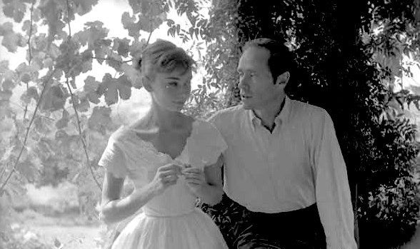 Audrey and Mel photographed by Milton Greene at La Vigna,1955